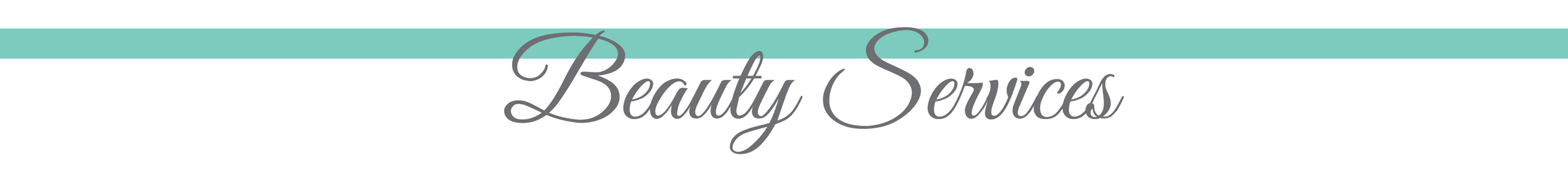 8. BEAUTY SERVICES